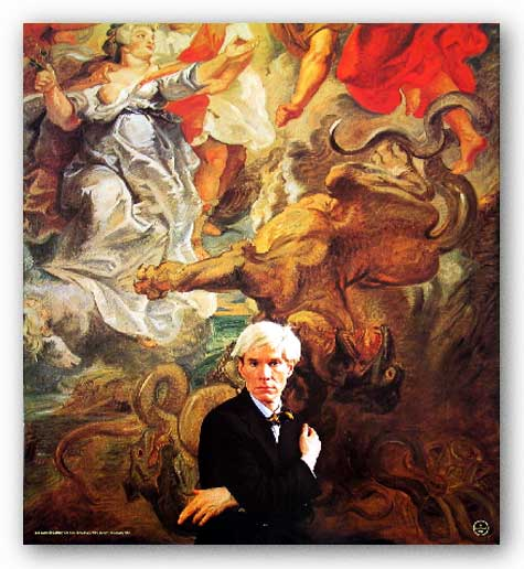 Portrait of Andy Warhol by Hans Namuth