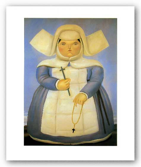 Mother Superior by Fernando Botero
