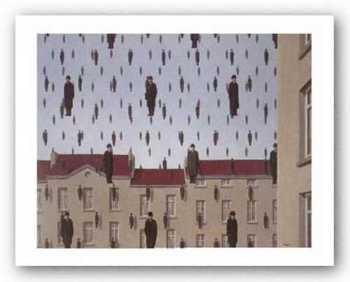 Golconde (mini) by Rene Magritte