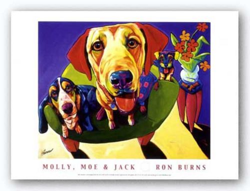 Molly, Moe and Jack by Ron Burns