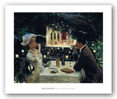 Dinner at les ambassadeus by Jean Beraud