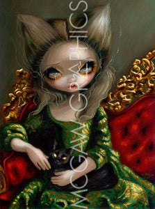 Princess with a Black Cat by Jasmine Becket-Griffith