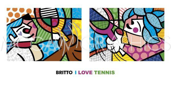 I Love Tennis by Romero Britto