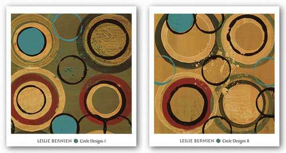 Circle Designs Set by Leslie Bernsen