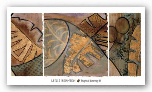 Tropical Journey II - Metallic Ink by Leslie Bernsen