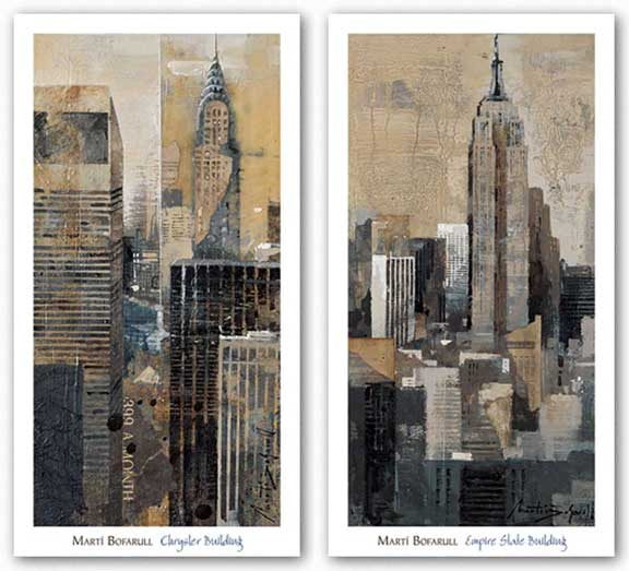 Empire State Building and Chrysler Building Set by Marti Bofarull