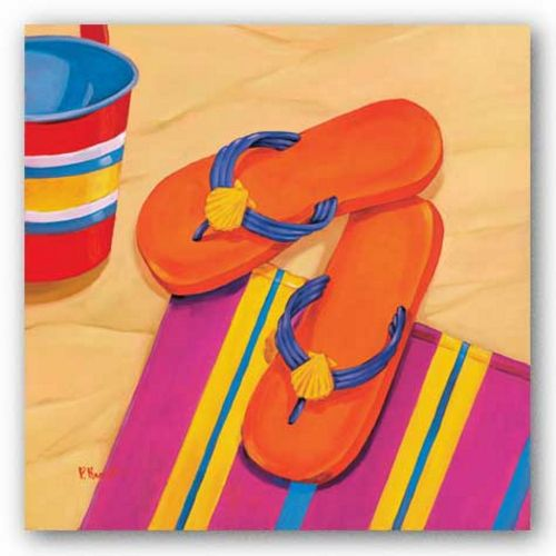 Orange Flip Flops by Paul Brent