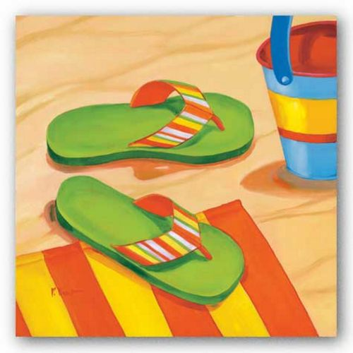 Green Flip Flops by Paul Brent