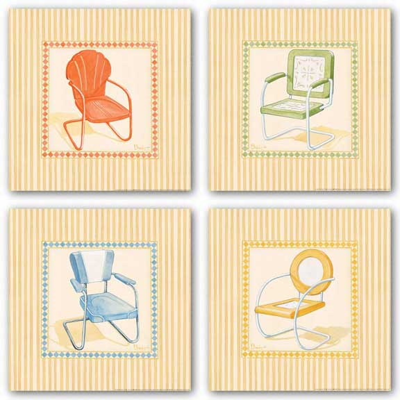 Retro Patio Chair Set by Paul Brent