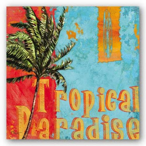Rojo Palm I - Tropical Paradise by Paul Brent