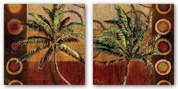 Contemporary Palm Set by Paul Brent