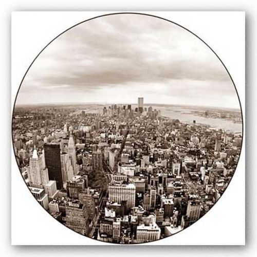 New York Panorama (Round) by Igor Maloratsky