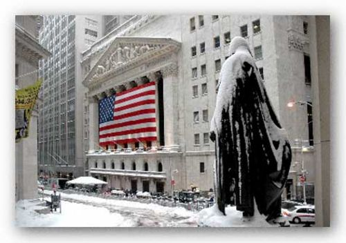 New York Stock Exchange and George Washington Statue, 2006 by Igor Maloratsky