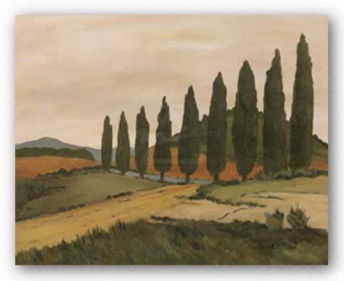 Shady Tuscan Road by Jean N. Clark