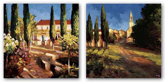 Pathway to the Villa and Villa Garden Set by Philip Craig