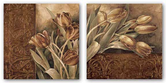 Copper Tulips Set by Linda Thompson