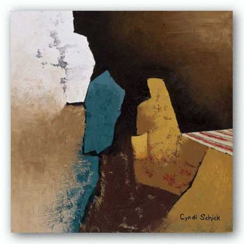 Teal Abstract I by Cyndi Schick