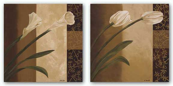 Tulip Pair and Calla Pair Set by Emmanuel Cometa