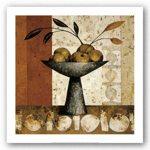 Oxide Panel with Fruit by Constance Bachmann