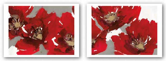Red Poppy Forest Set by Natasha Barnes