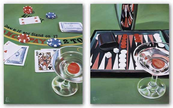 Backgammon and Blackjack Set by Paul Kenton