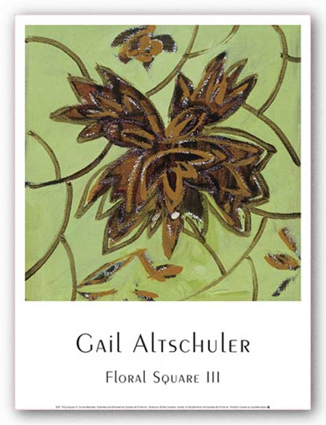Floral Square III by Gail Altschuler