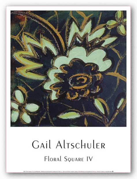 Floral Square IV by Gail Altschuler