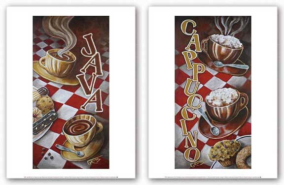 Cappuccino for Two and Java Moment Set by Stephen Grundy