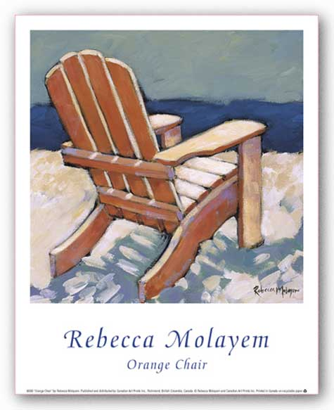 Orange Chair by Rebecca Molayem