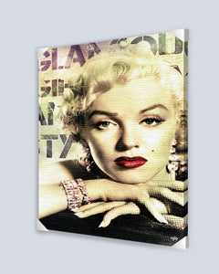 "Marilyn Monroe Glamour 24""x36"" Gallery Wrapped Canvas"