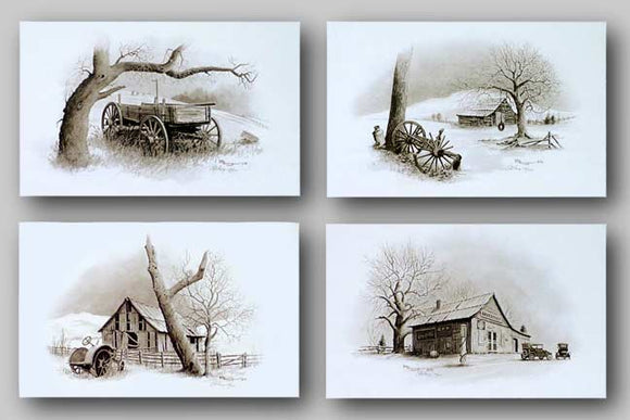Country Memories Set - Signed and Matching Numbers by Howard Burger
