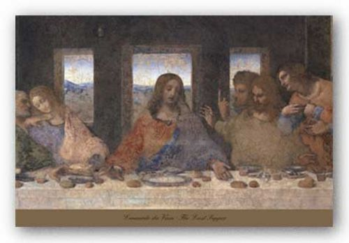 The Last Supper, 1498 (detail) by Leonardo da Vinci