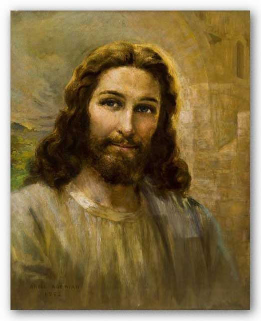 Smiling Christ by Ariel Agemian