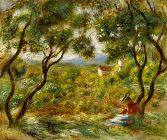 The Vineyards at Cagnes (Les Vignes a Cagnes), 1908 by Pierre-Auguste Renoir