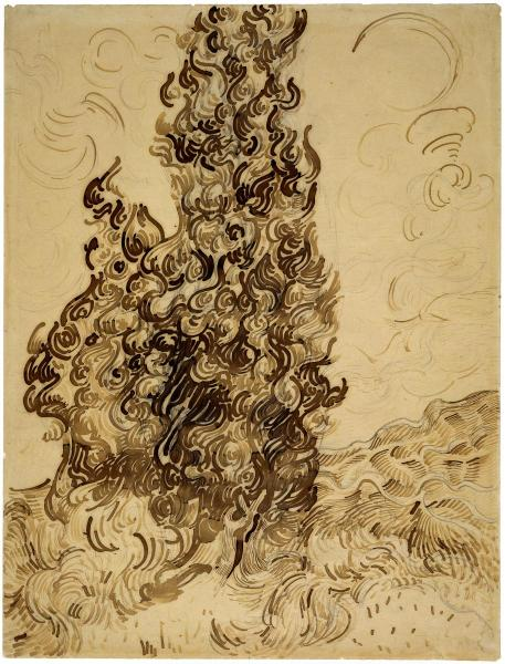 Cypresses (Les Cypres), June 1889 by Vincent van Gogh