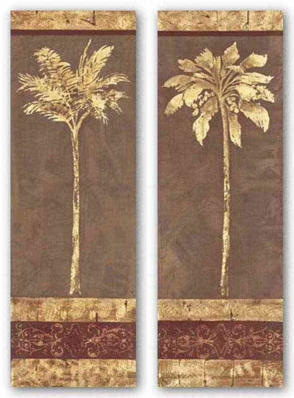 Gilded Palm Set by Garden Street Gallery