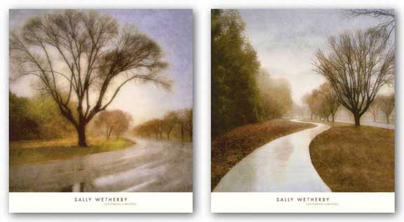 Autumn Path and Road Set by Sally Wetherby