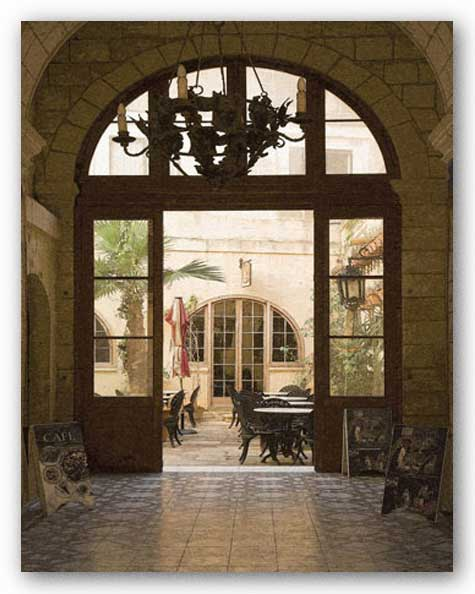 Cafe Courtyard by Kenneth Gregg
