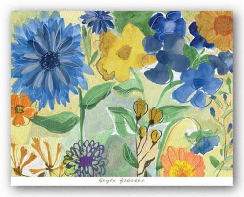 Blue Flowers by Gayle Kabaker