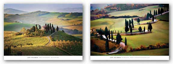Strada Per Monticchiello and Belvedere Sunrise Tuscany Set by Jim Nilsen