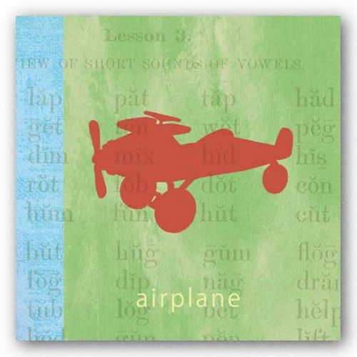 Vintage Toys Airplane by Paula Scaletta