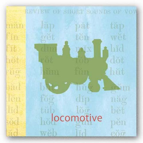 Vintage Toys Locomotive by Paula Scaletta