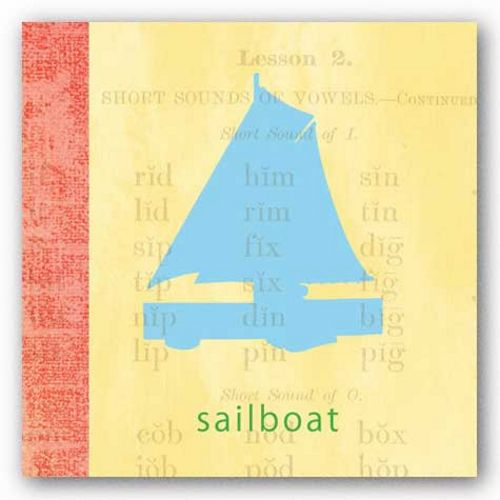 Vintage Toys Sailboat by Paula Scaletta