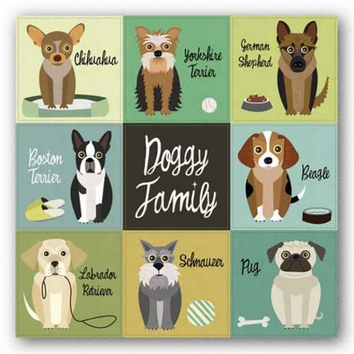 Doggy Family by Jenn Ski