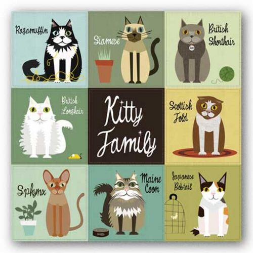 Kitty Family by Jenn Ski