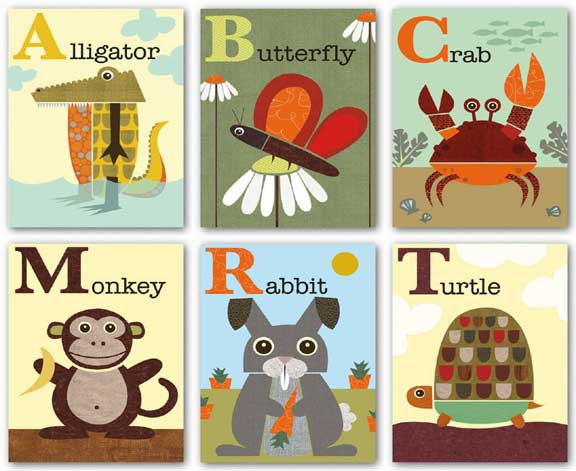 Alphabet Animals Set by Jenn Ski
