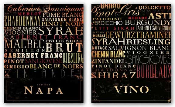 Vino and Napa Type Set by Stephen Fowler