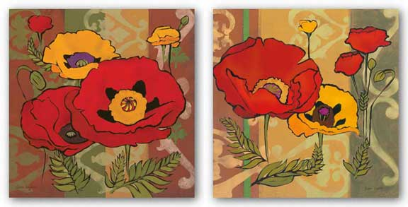 Majestic Poppies Set by Diane Hoeptner