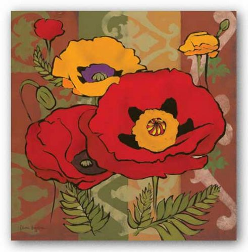Majestic Poppies I by Diane Hoeptner