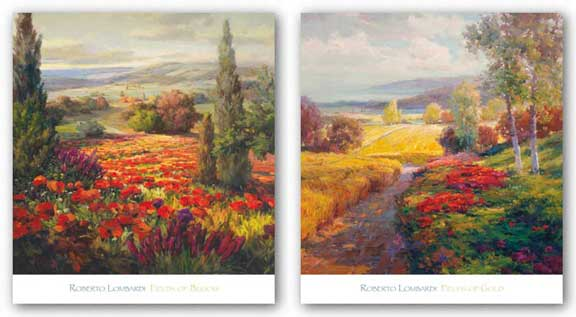 Fields of Bloom and Gold Set by Roberto Lombardi